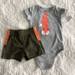Other - Fox baby onesie and shirt set